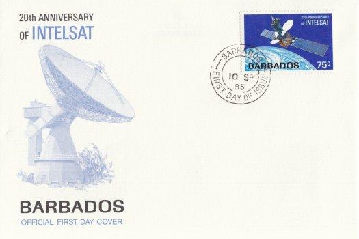 Barbados 1985 | 20th Anniversary of Intelsat FDC