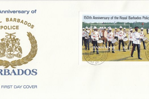 Barbados 1985 | 150th Anniversary of Royal Barbados Police Souvenir Sheet FDC