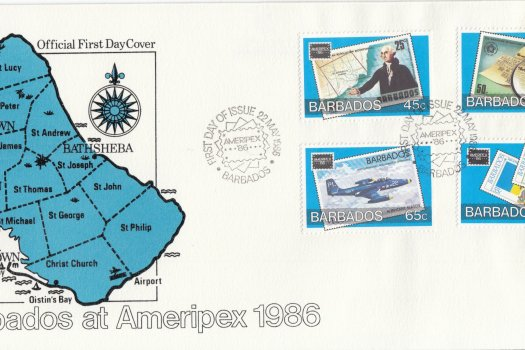 Barbados 1986 | Ameripex 86 International Stamp Exhibition FDC