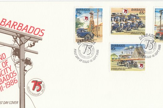 Barbados 1986 | 75th Anniversary of Electricity in Barbados FDC
