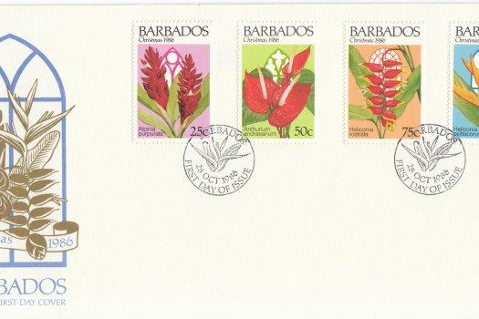 Barbados 1986 | Christmas Flowers 1986 FDC
