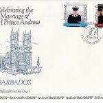 Barbados 1986 | Royal Wedding HRH Prince Andrew FDC