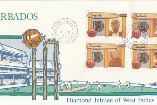 Barbados 1988 | West Indian cricket FDC