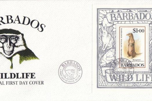 Barbados 1989 | Wildlife Preservation Souvenir Sheet FDC