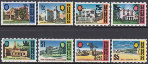 Barbados SG399-414 | Landmarks of Barbados Definitives 1970-71 - High Values