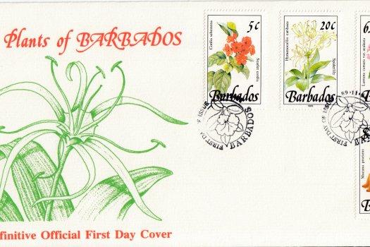 Barbados 1989 | Wild Plants of Barbados Definitive FDC (1)