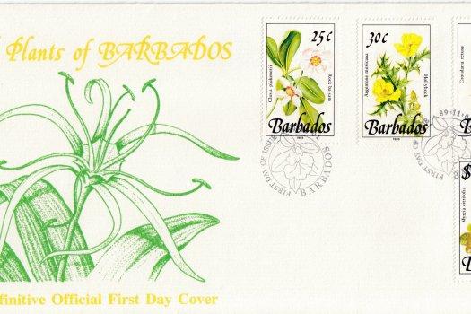 Barbados 1989   Wild Plants of Barbados Definitive FDC (3)