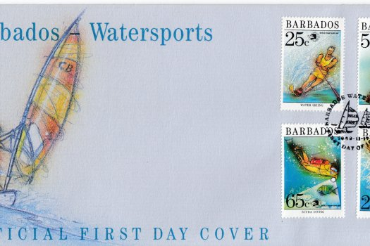 Barbados 1989 | Watersports in Barbados FDC