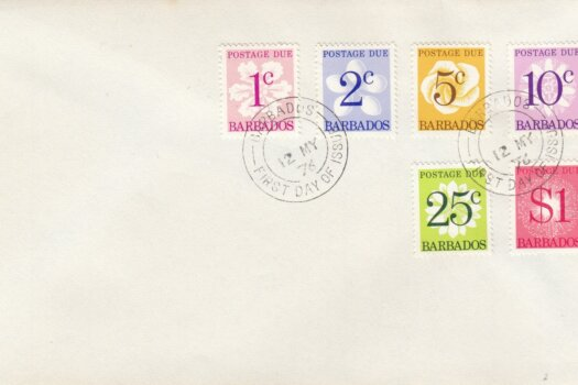 Barbados 1976 | Barbados Postage Due stamps on plain FDC