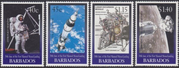 Barbados SG1138-1141 | 30th Anniversary of the first Moon landing