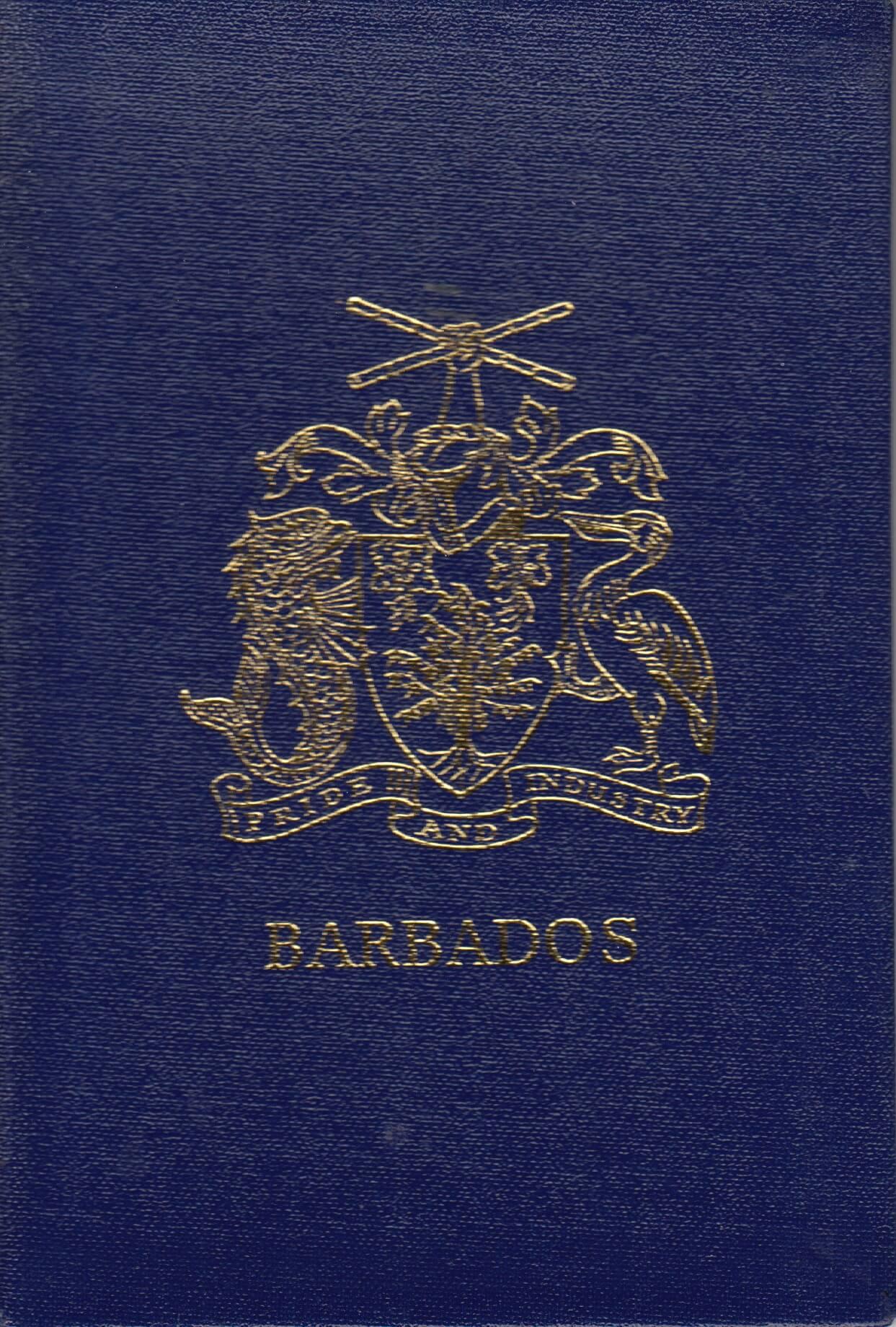 XVIIIth Congress of the Universal Postal Union, Rio de Janeiro 1979 - Barbados stamp booklet cover