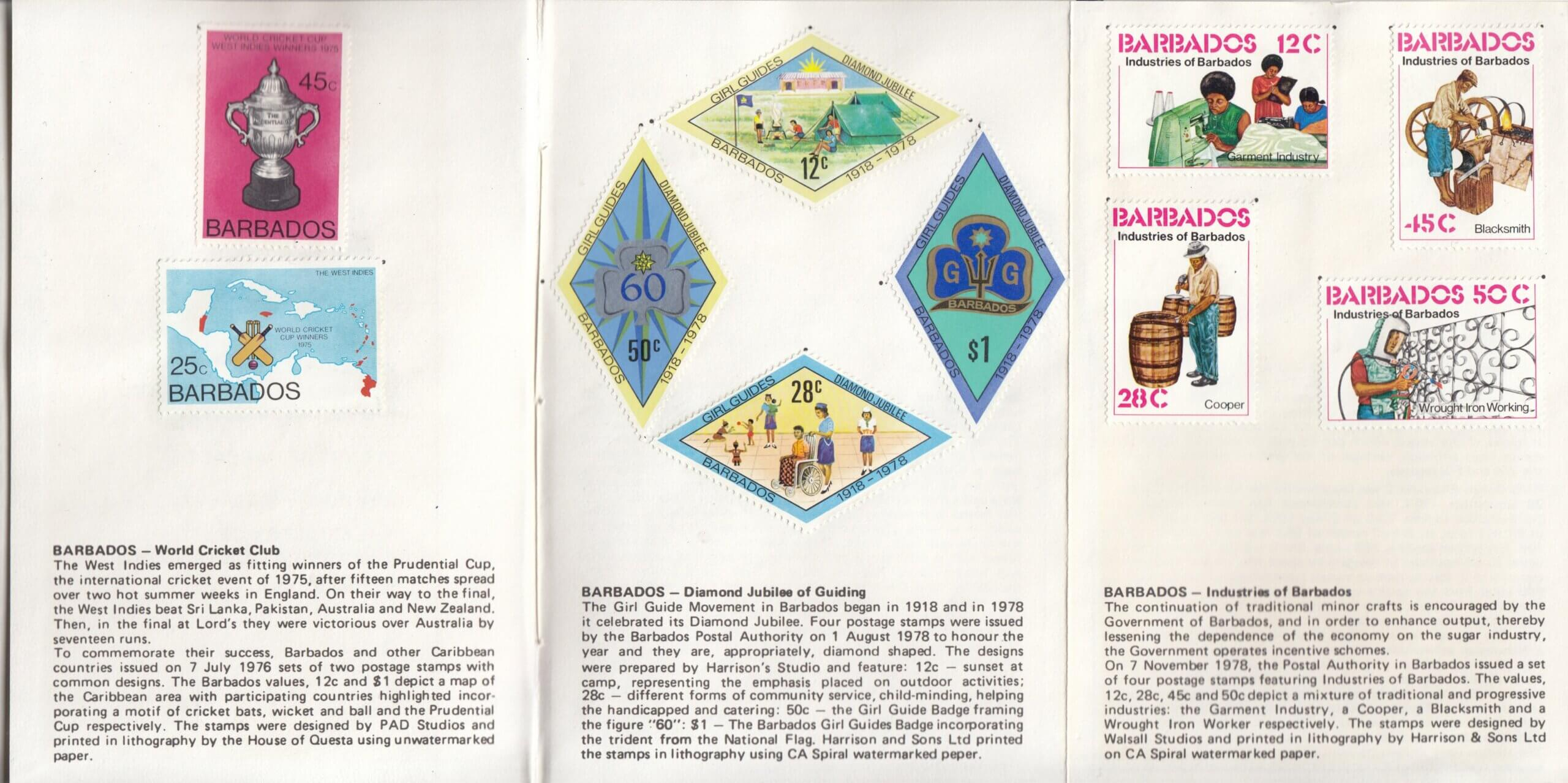 XVIIIth Congress of the Universal Postal Union, Rio de Janeiro 1979 - Barbados stamp booklet page 2