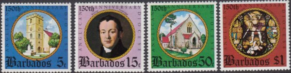 Barbados SG526-529 | 150th Anniversary of Anglican Diocese in Barbados