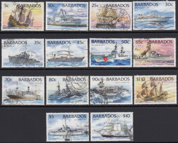 Barbados SG1029A-1042A | Ships Definitives 1994