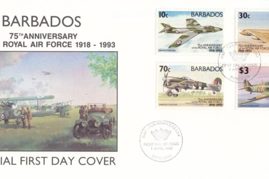 Barbados 1993 | 75th Anniversary of Royal Air Force FDC