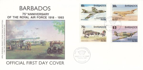 Barbados 1993 | 75th Anniversary of Royal Air Force FDC
