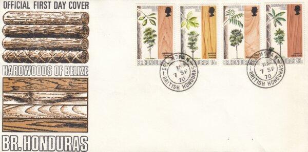 British Honduras 1970 | Hardwoods of Belize FDC