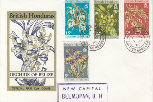 British Honduras 1970 | Orchids of Belize FDC