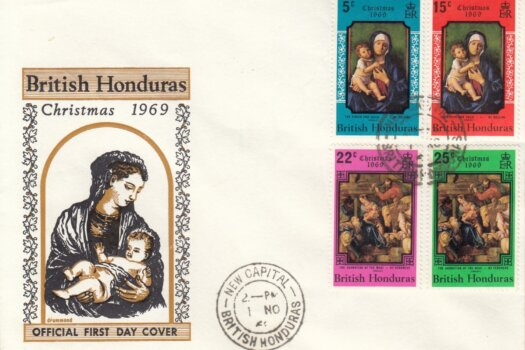 British Honduras 1969 | Christmas FDC