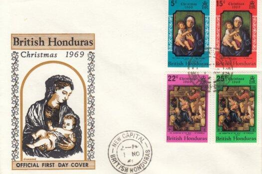 British Honduras 1969 | Christmas FDC
