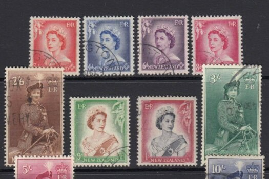 New Zealand SG723-736 | 1953-59 QEII Definitive set (Used)