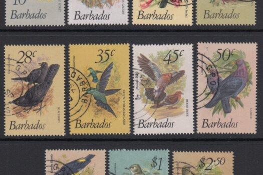 Barbados SG622-638 | Birds of Barbados Definitives 1979-83 Original Short Set (Used)