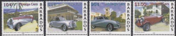 Barbados SG 1175-1178 | Vintage Cars