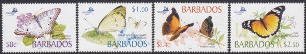 Barbados SG1261-1264 | Barbados Butterflies