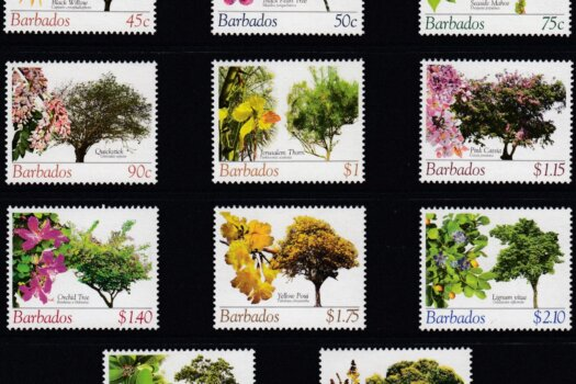 Barbados SG1266-1280 | Barbados Flowering Trees Definitives 2005