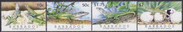 Barbados SG1286-1289 | Extreme Anole