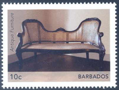 Barbados Stamps| Barbados Antique Furniture 10c Settee