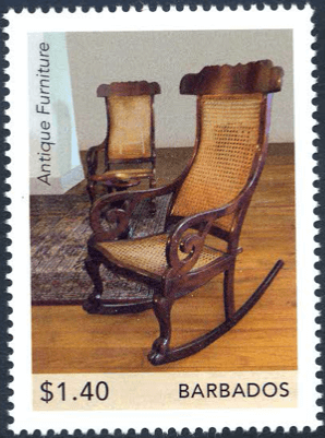 Barbados Stamps| Barbados Antique Furniture $1.40 Antique Rocking Chairs