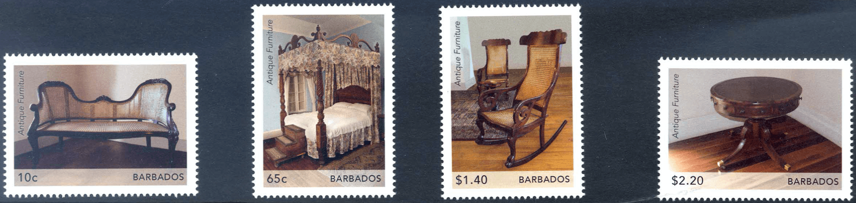 Barbados Antique Furniture stamps 2021