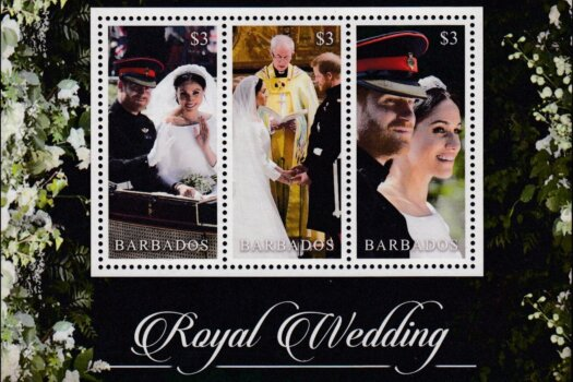 Barbados SGMS1495 | Royal Wedding of the Duke & Duchess of Sussex Souvenir Sheet