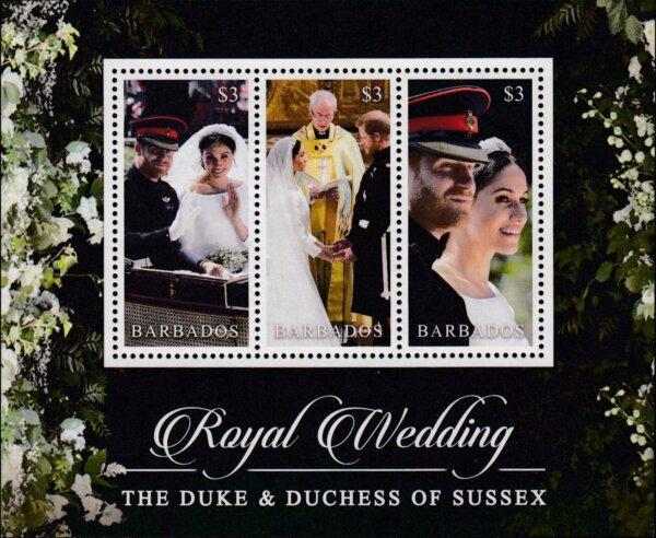 Barbados SGMS1495 | Royal Wedding of the Duke & Duchess of Sussex Souvenir Sheet
