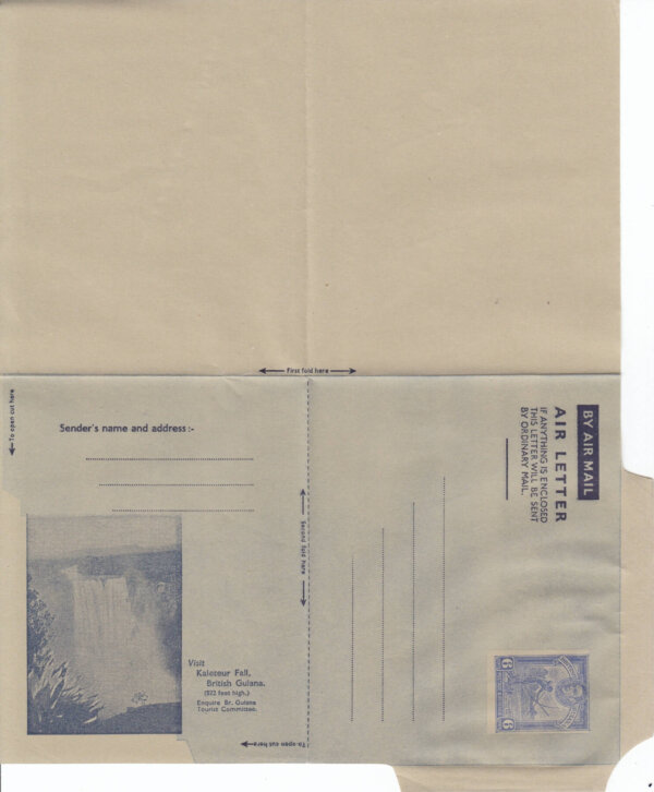 British Guiana 6c Airmail Air Letter