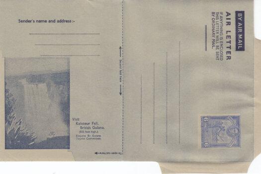 British Guiana 6c Airmail Air Letter - full view