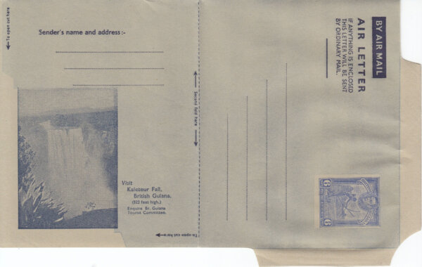 British Guiana 6c Airmail Air Letter - full view