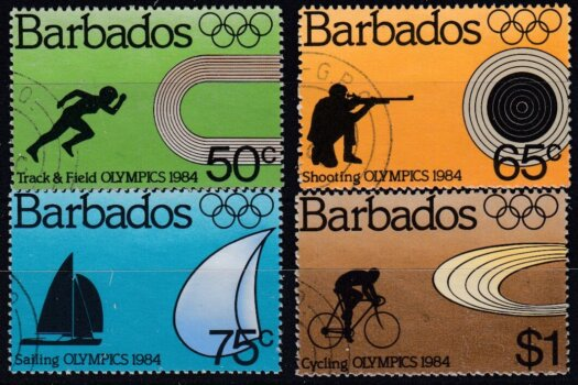 Barbados SG745-748 | Olympic Games Los Angeles 1984 (used)