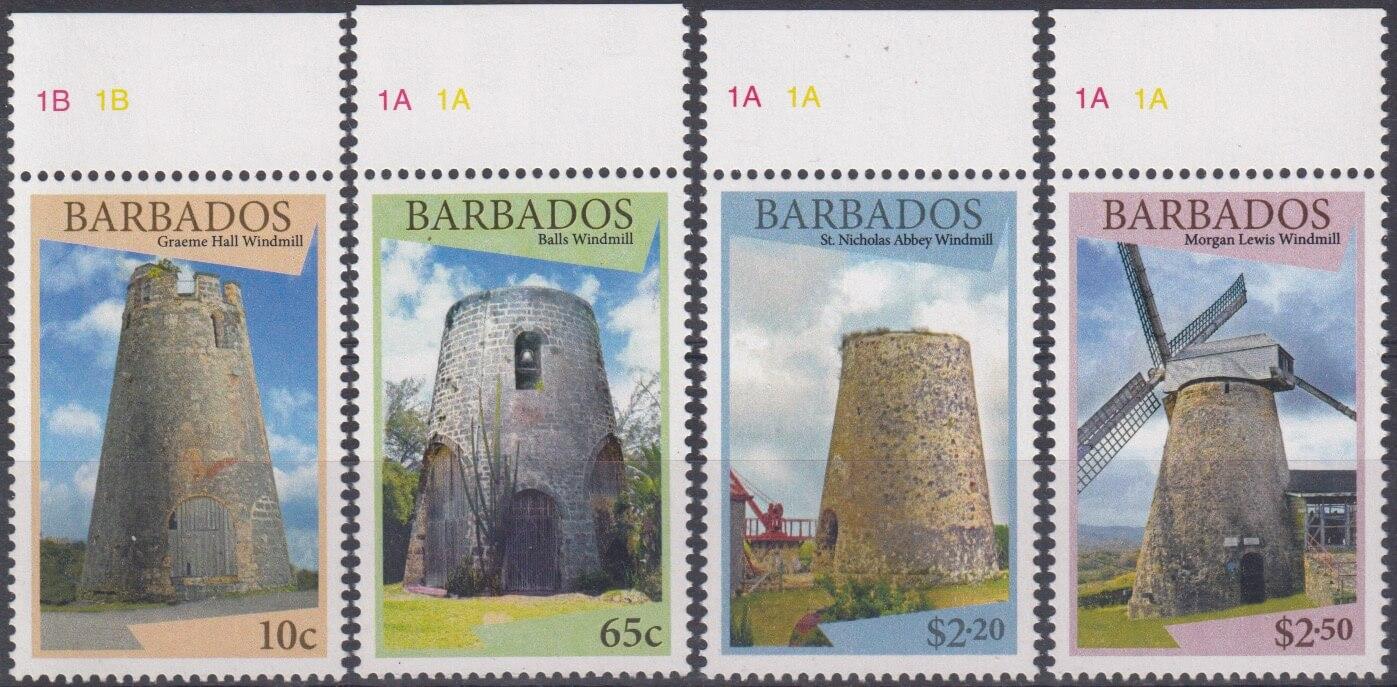 Barbados SG1431-1434 | Windmills of Barbados