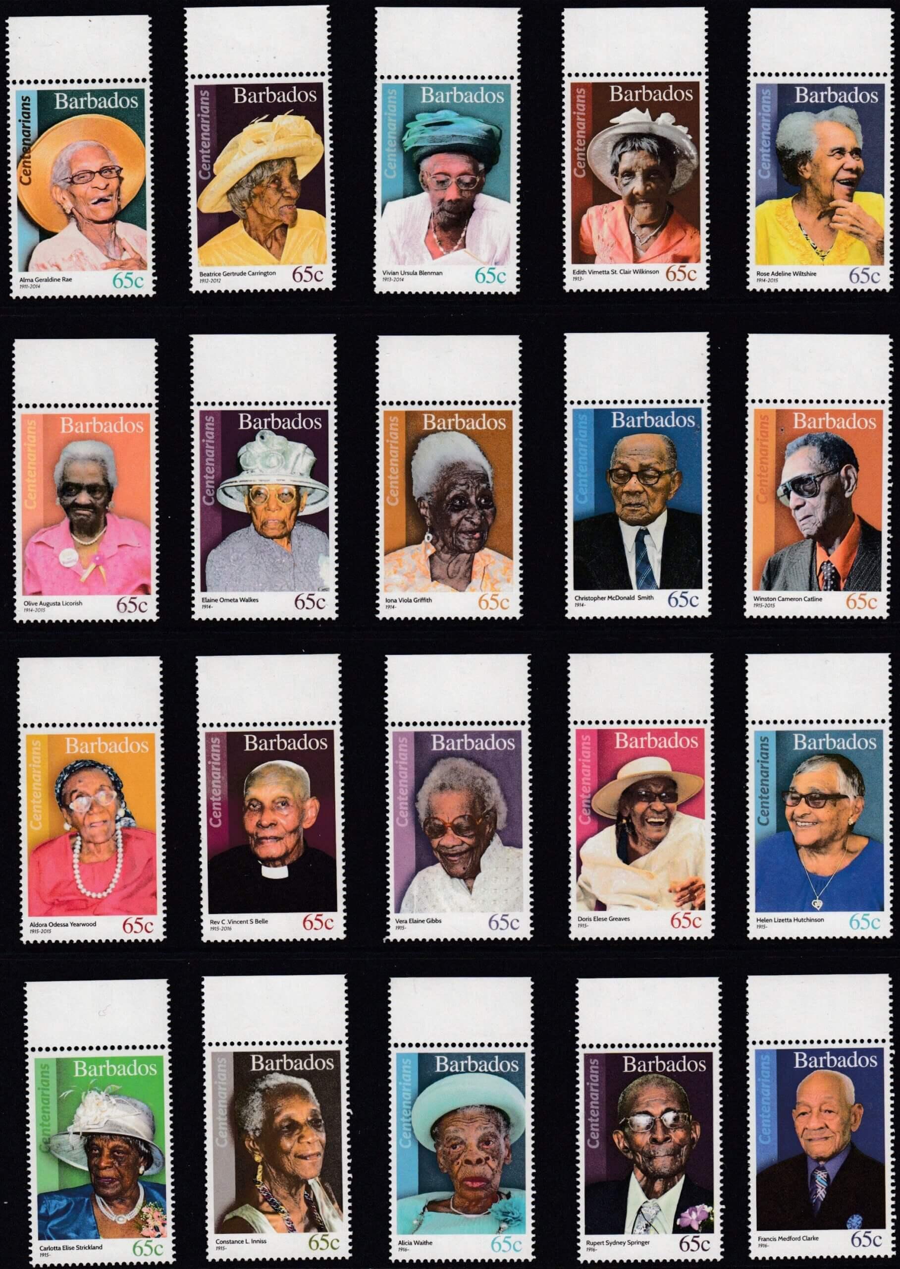 Barbados SG1461-1480 | Barbados Centenarians