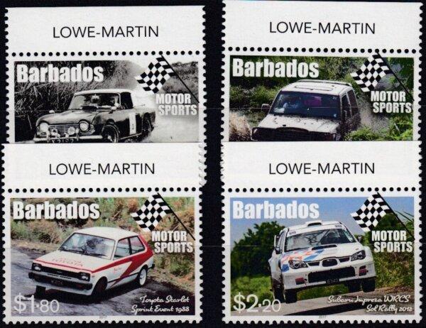 Barbados SG1482-1485   Motor Sport in Barbados