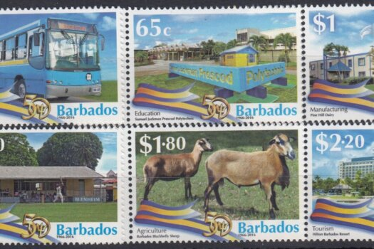 Barbados SG1454-1459| 50th Anniversary of Independence in Barbados