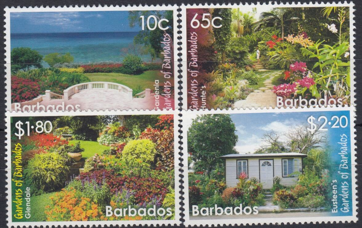 Barbados SG1426-1429| Gardens of Barbados