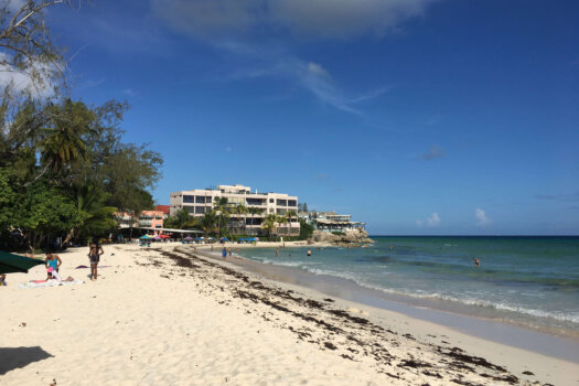 Champers, Barbados as seen from Rockley Beach, Barbados