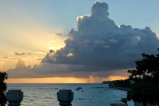 Sunset looking west from St Lawrence Gap, Barbados