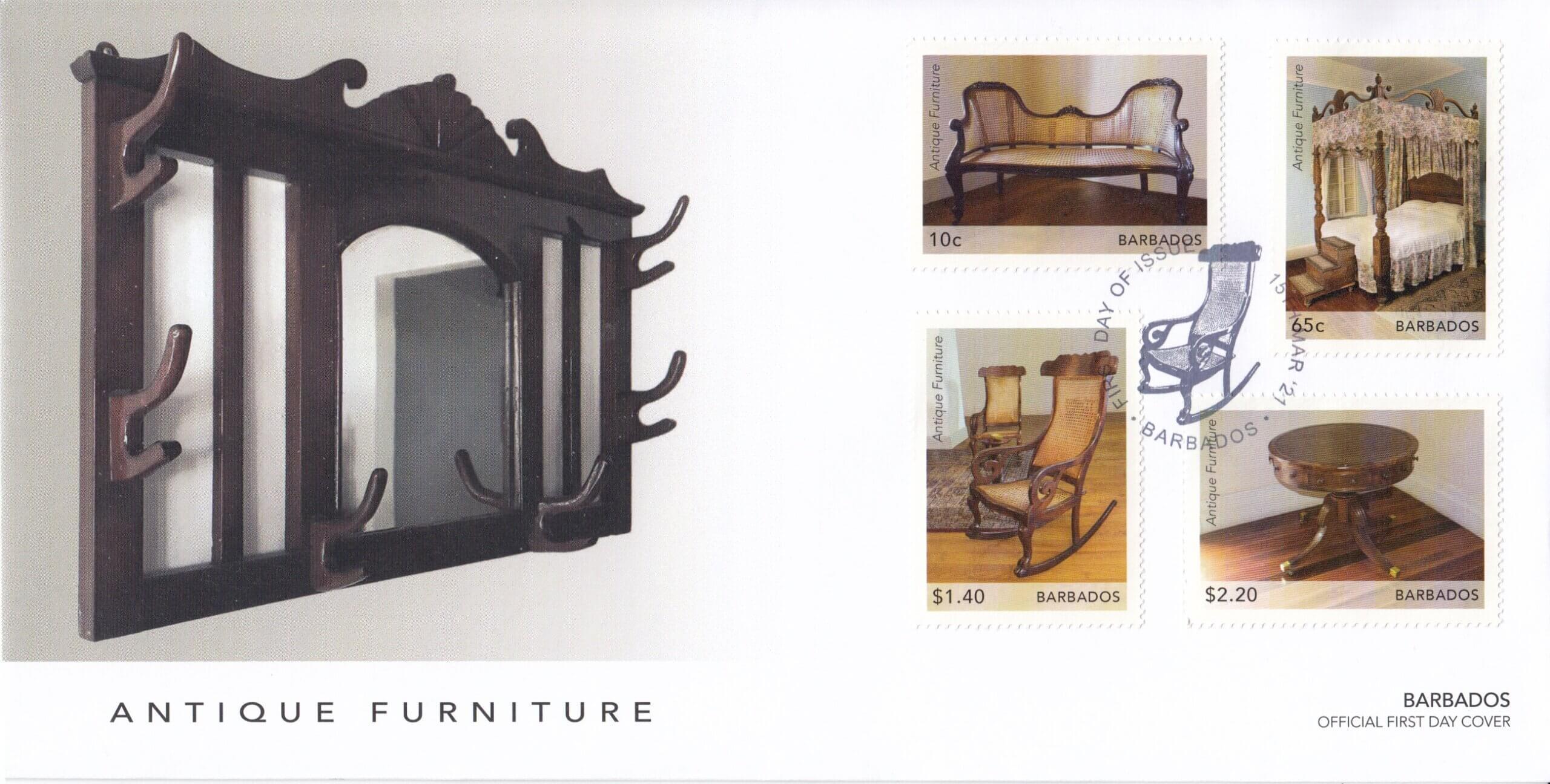Barbados 2021 Antique Furniture FDC