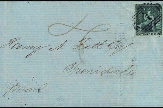 Barbados Cover 20th December 1856
