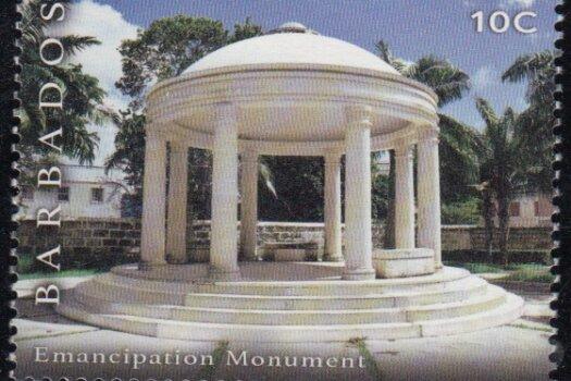 10c Emancipation Monument | Synagogue Block restoration | Barbados Stamps