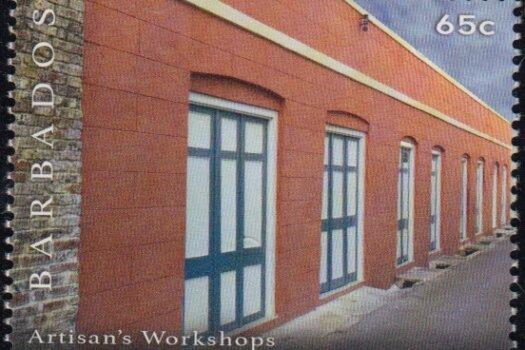 65c Artisan's Workshops   Synagogue Block restoration   Barbados Stamps